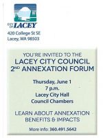 Invitation to Annexation Meeting for CCGCE homeowners